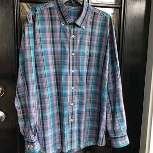 Button Down, Long Sleeve, Plaid Shirt for Men! New